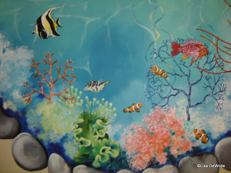 Portfolio artist lisa dewilde 831 713 7983 murals for Aquarium mural